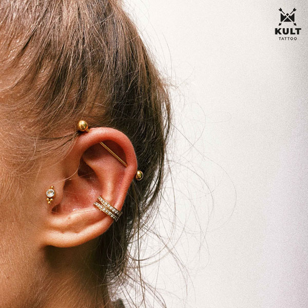 double conch, industrial, tragus